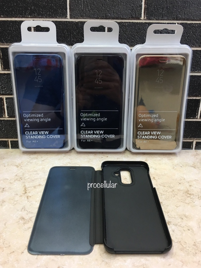 check out e3aa8 62914 Jual Case Clear View Standing Cover Samsung Galaxy A6+ Plus 2018 Flip Case  - Jakarta Utara - procellular | Tokopedia