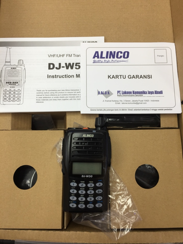 Jual HT ALINCO DJ-W50 Dual band FM transceiver - Jakarta Barat - Jaya focus  cctv   Tokopedia