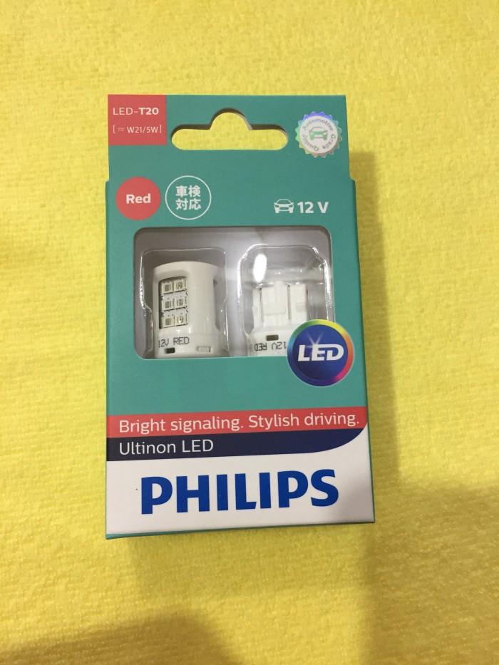 Foto Produk Bohlam rem LED T20 Philips RED W21/5W dari Graha Sakti