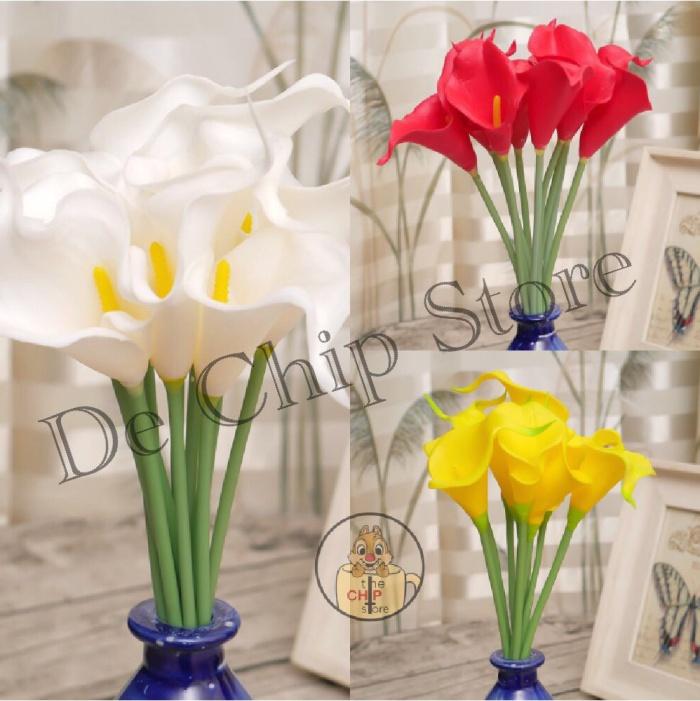 Jual Bunga Calla Lily Mini Import Artificial Flower Calla Lily Kab Cilacap The Chip Store Tokopedia
