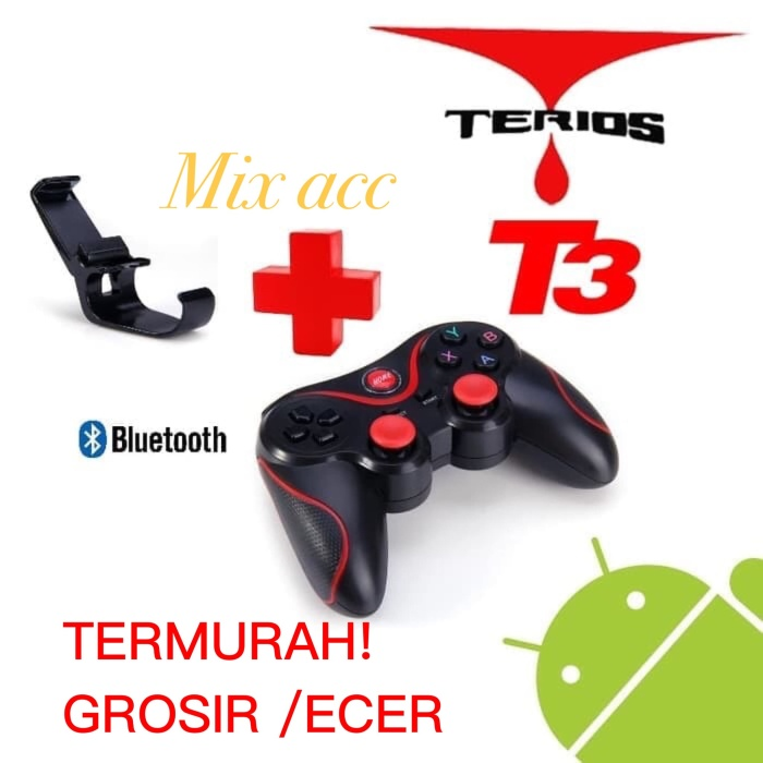 Foto Produk Gamepad Bluetooth Controller for Android Terios T3 With Holder dari Mix acc88