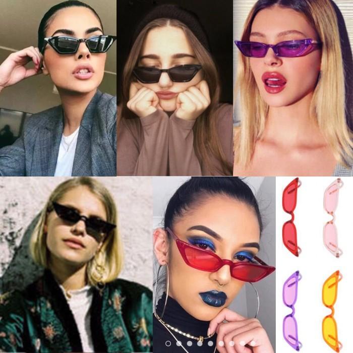 harga Kacamata sunglasses cat eye 2018 gaya vintage mewah wanita red yellow Tokopedia.com