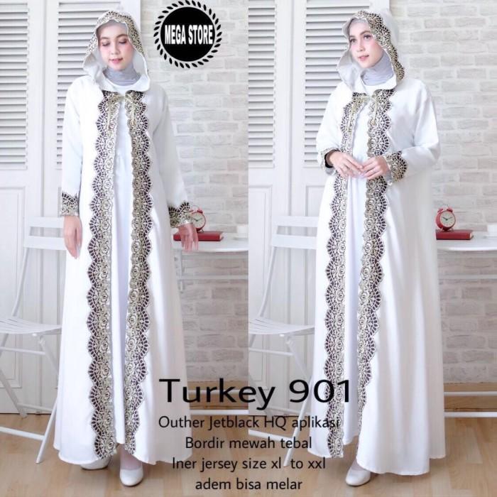 harga Abaya arab hoodie kombinasi bordir mewah Tokopedia.com