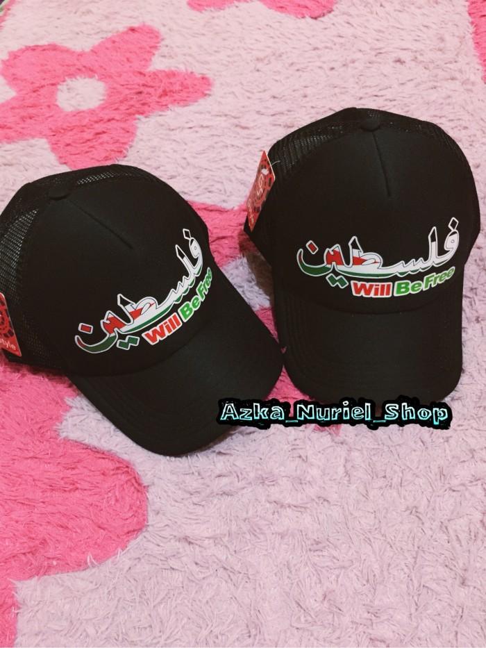 Topi Jaring Trucker Palestina | Topi Quote Palestine Premium