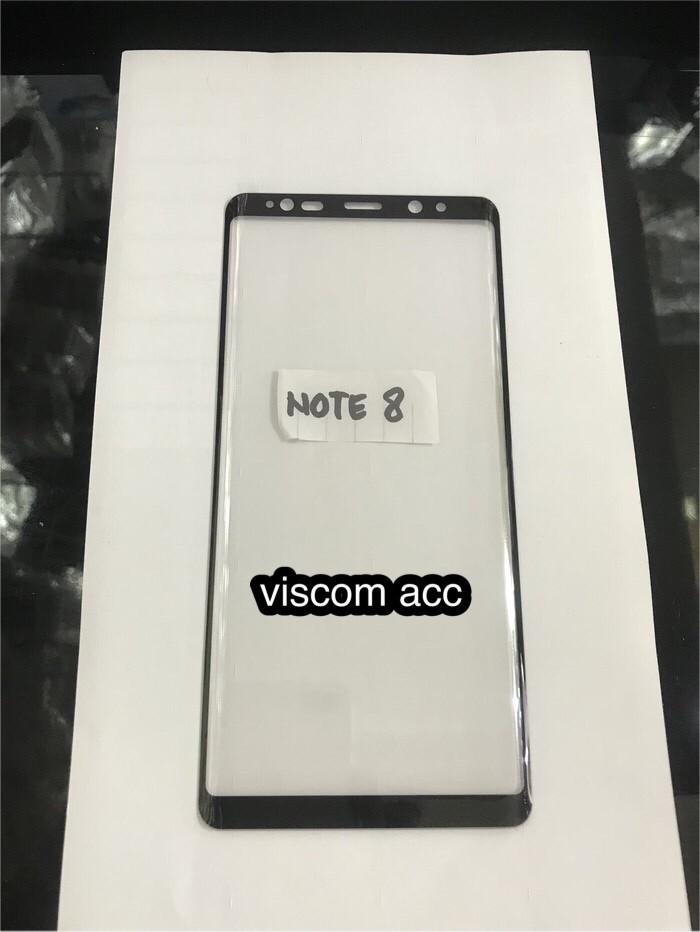 Foto Produk Tempered glass full Samsung Note 8 3D melengkung dari Viscom Acc