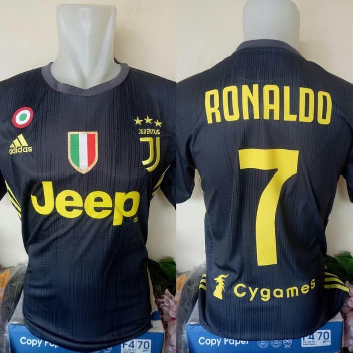check out 1aa09 c4269 Jual Jersey Baju Bola Juve Juventus 3rd Third Ronaldo cygames 2018 2019 -  DKI Jakarta - surgasport99 | Tokopedia