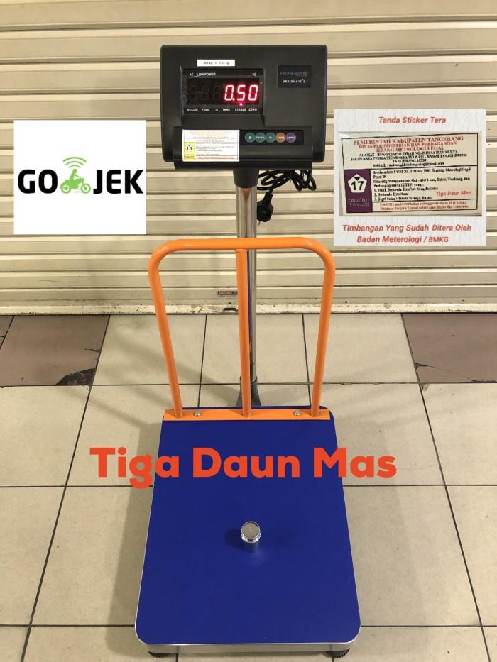 harga Timbangan digital barang / timbangan lantai / bench scale a12e + pagar Tokopedia.com