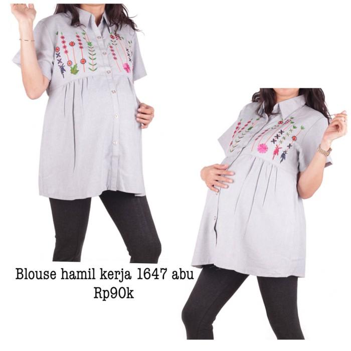 harga Baju hamil blus hamil kerja 1647 abu Tokopedia.com