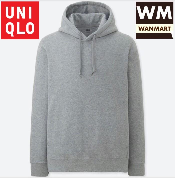 8b0ae3ae8 Jual UNIQLO Men Jaket Sweater Hoodie Pria Lengan Panjang Gray - Kota ...