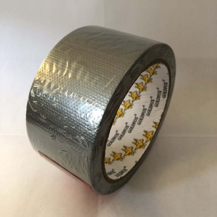 Foto Produk cloth tape lakban linen SILVER 48mm x 11m GoldFox dari Toko LuShan