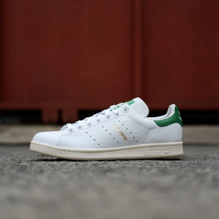 30ef9f20407cee Adidas Stan Smith OG Tumbled Leather White / Green / Gold Original