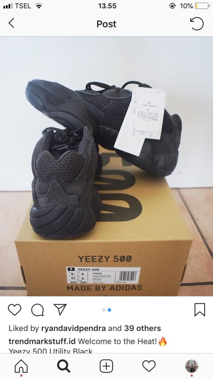 best service e9155 eb26c Jual Yeezy 500 Utility black (fake = money back) - Kota Denpasar - Stude  Stylish | Tokopedia