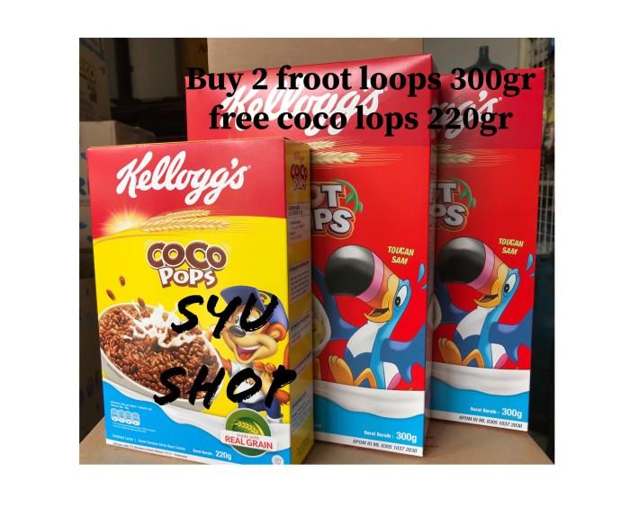 harga Kellogs kelloggs froot loops 300 gr free coco pops 220 gr Tokopedia.com