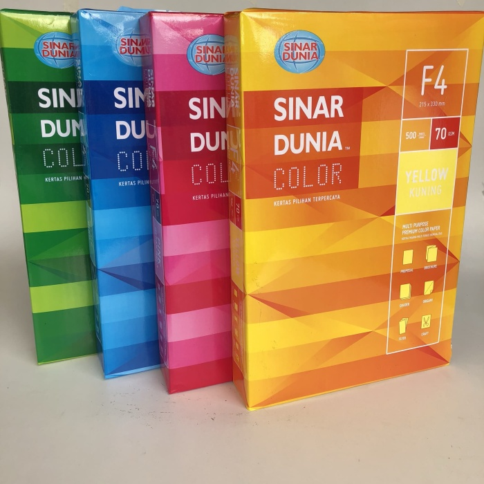Paperfine Kertas Hvs Warna A4 Saffron Isi 25 Lembar Toko Online