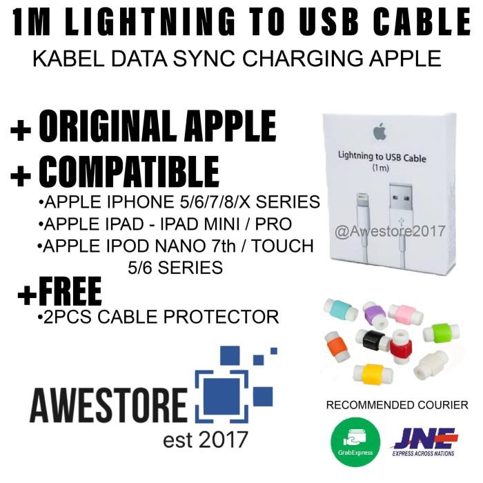 harga Original kabel data iphone 5/6/7/8 ipad mini ipod lightning cable ori Tokopedia.com