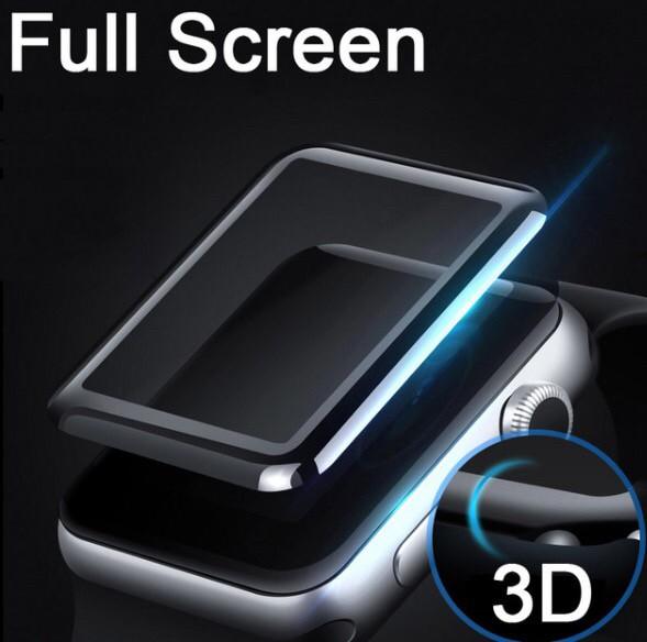 Foto Produk Tempered glass full cover 3D iwatch apple watch screen curved 38 42 mm - 38mm dari goru