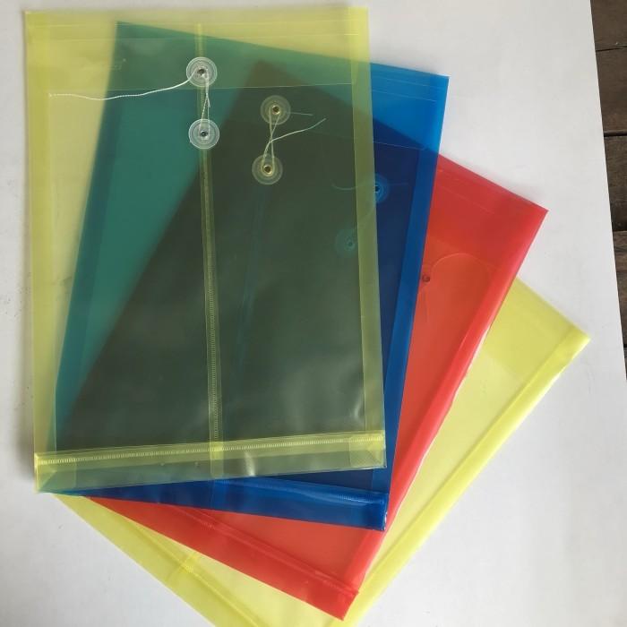 Map plastik tali f4 document bagfile organizer
