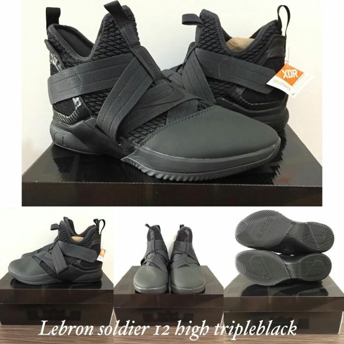 half off 92794 dda7e Jual sepatu basket nike lebron soldier 12 triple black - Kota Batam -  Basket Store Premium | Tokopedia