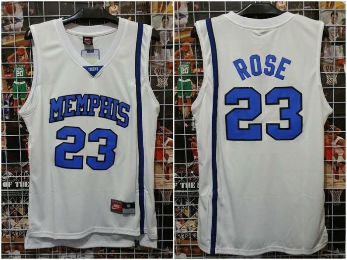 low priced 84e4b b694c Jual Jersey Basket Swingman NCAA Memphis Derrick Rose Putih - Kota Batam -  RR7 Shop | Tokopedia