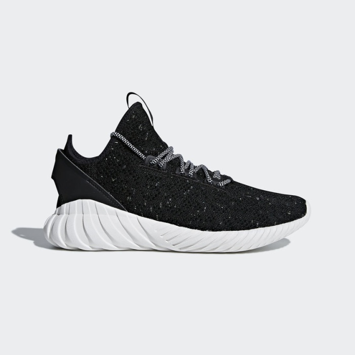 Adidas Originals Tubular Doom Sock PrimeKint PK Sneakers Black//White CQ0940
