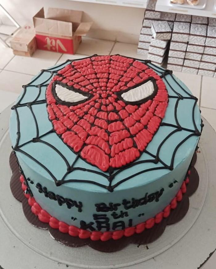 Jual Cake Karakter Spiderman Kue Ulang Tahun Anak Spiderman Uk 18cm Jakarta Selatan Xoxo Bread And Cake Tokopedia