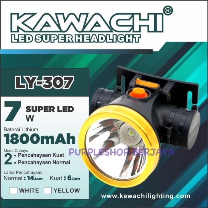 harga Kawachi senter kepala 7watt baterai litium ly 307 ringan dan tahan Tokopedia.com