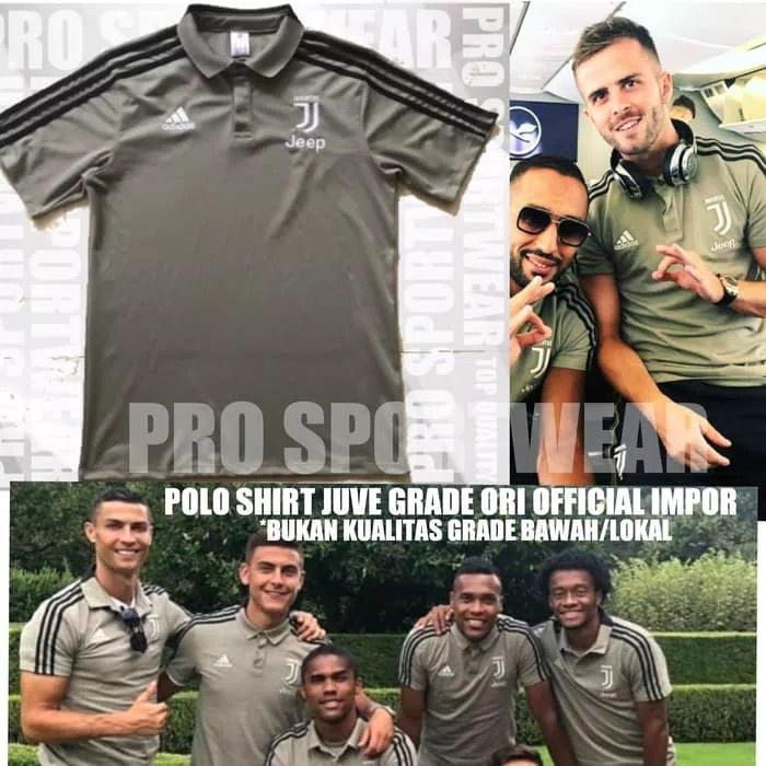 2477bf80e1b Jual Murah Jersey Baju Polo Shirt Bola Juventus Juve Away 2018 2019 ...