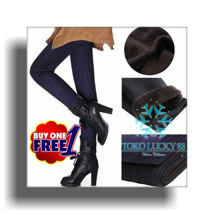 0677ec20b51f7d Harga Jual Legging Thermal Jeans Lapis Bulu Winter Musim Dingin ...