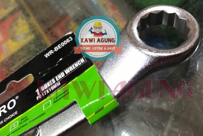 Kunci Ring Tekiro 17 x 19 mm Original / Asli Japan Chrome Vanadium
