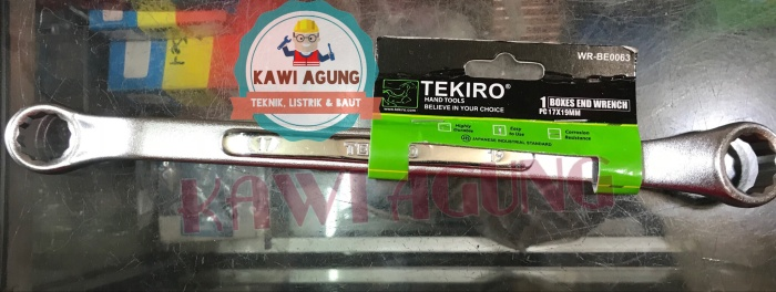 Jual Kunci Ring Tekiro 17 x 19 mm Original / Asli Japan Chrome Vanadium - Kawi Agung | Tokopedia