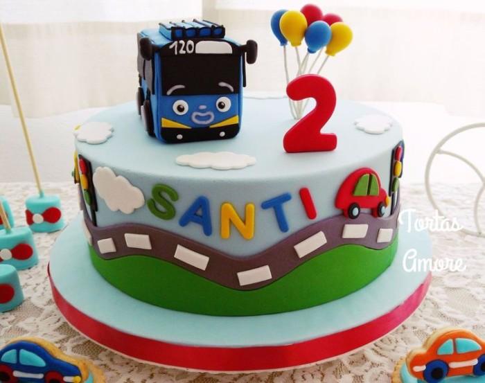 Jual Tayo Birthday Cake Kue Ulang Tahun Anak Fondant Jakarta Timur Kampung Heroes Tokopedia