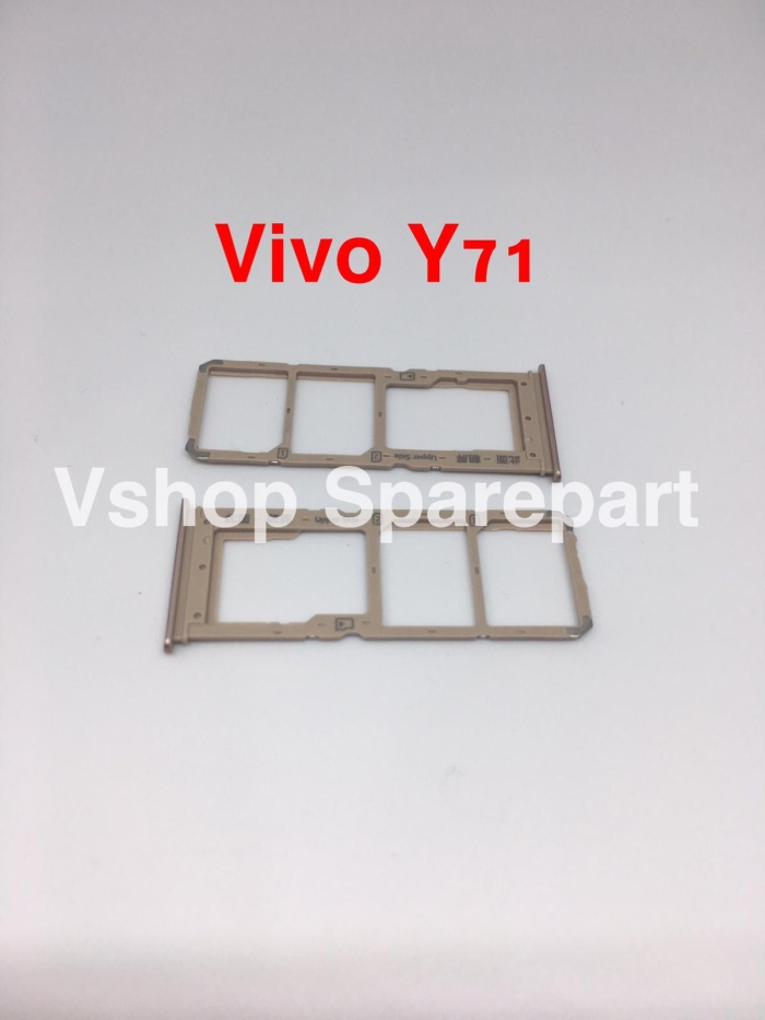 Foto Produk Simtray Sim Lock Tempat Simcard Vivo Y71 Gold - Hitam dari vshop sparepart