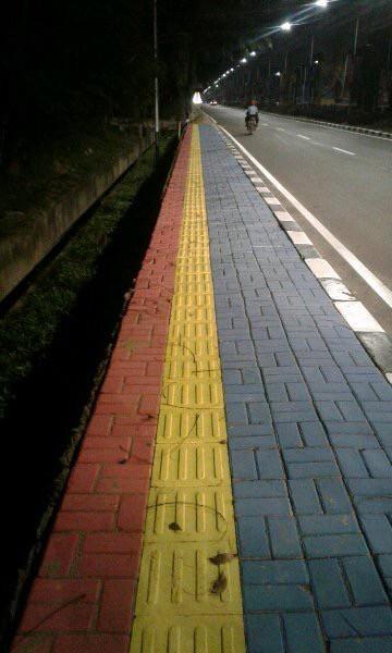 Jual Paving block stepnosing tunanetra tactile keramik tunanetra trotoar - Kota Palembang