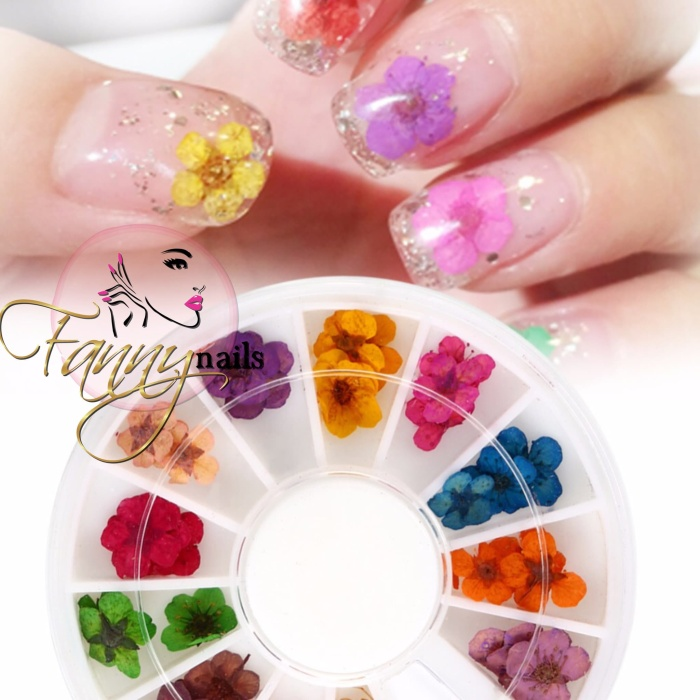 Nail Art Bunga: Jual Dry Flower Nail Art Resin Wheel / Bunga Kering