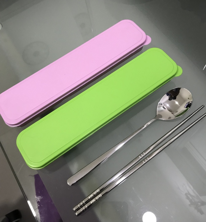 Foto Produk Sendok KOREA Sujeo dan Sumpit Stainless Steel 304 (DENGAN BOX) dari Nelsen984 Kaskus