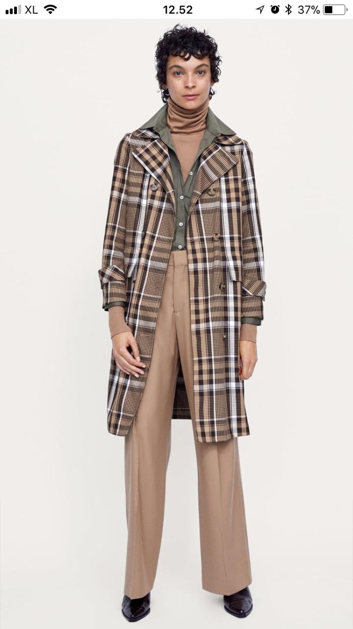 harga Zara checked trench coat Tokopedia.com