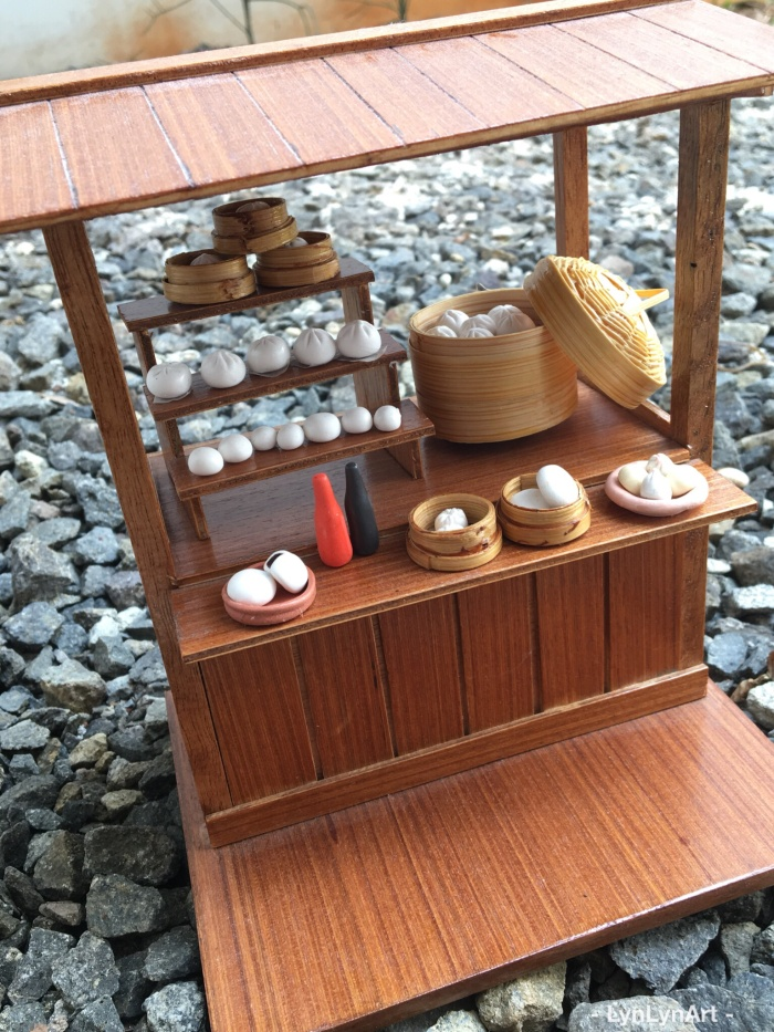 Foto Produk Miniatur clay bakpao gerobak / warung dari Lynlyn
