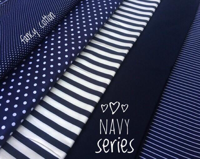 Foto Produk kain katun jepang motif navy edition ori tokai senko dari maxshop online