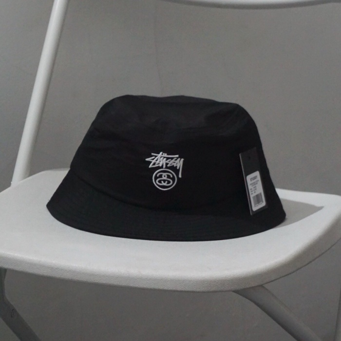 a7427c47f35a5 Jual Stussy Crushable Stock Lock Bucket Hat Black ORIGINAL - Kota ...
