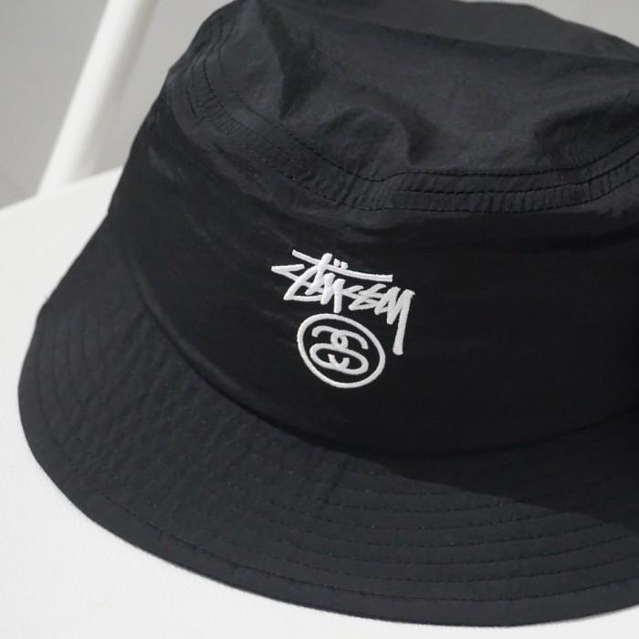 9163f5e9bff Jual Stussy Crushable Stock Lock Bucket Hat Black ORIGINAL - Kota ...
