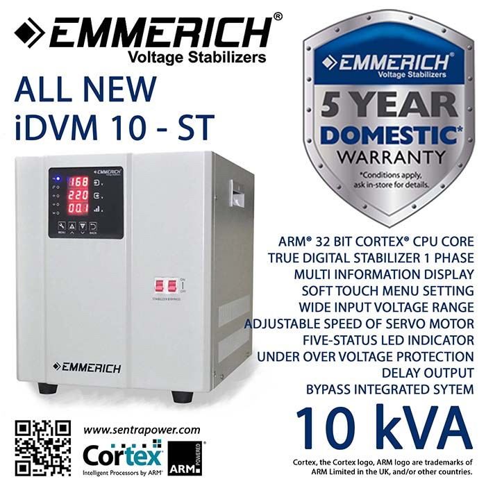 harga Automatic voltage regulator emmerich idvm 10-st - stabilizer rumah Tokopedia.com