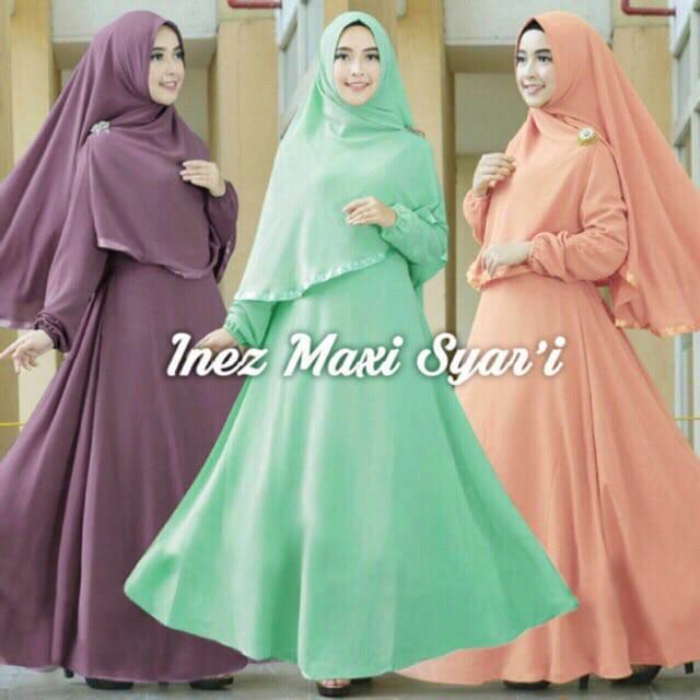 Jual Hijab Modern Inez Syar I 2in1 Gamis Busui Jilbab Khimar