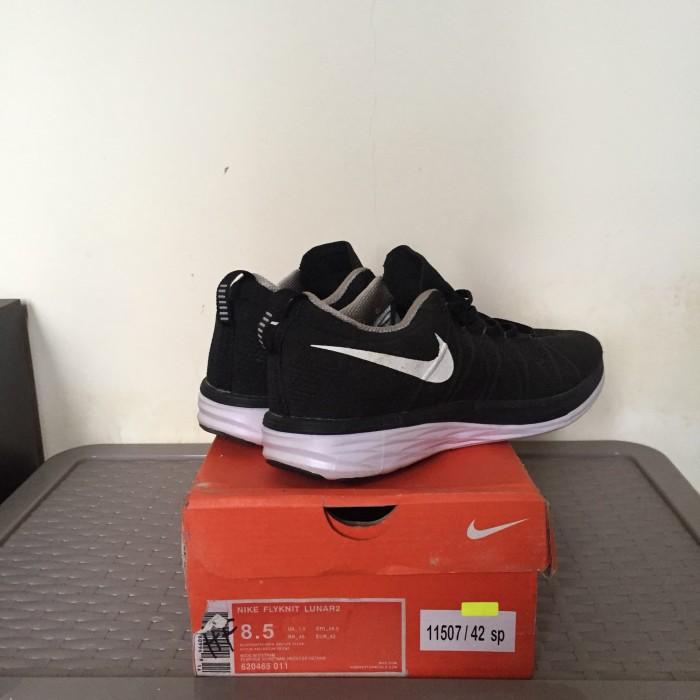 sale retailer 3b7ba 80d33 Sepatu nike flyknit lunar 2 black white size 42 original