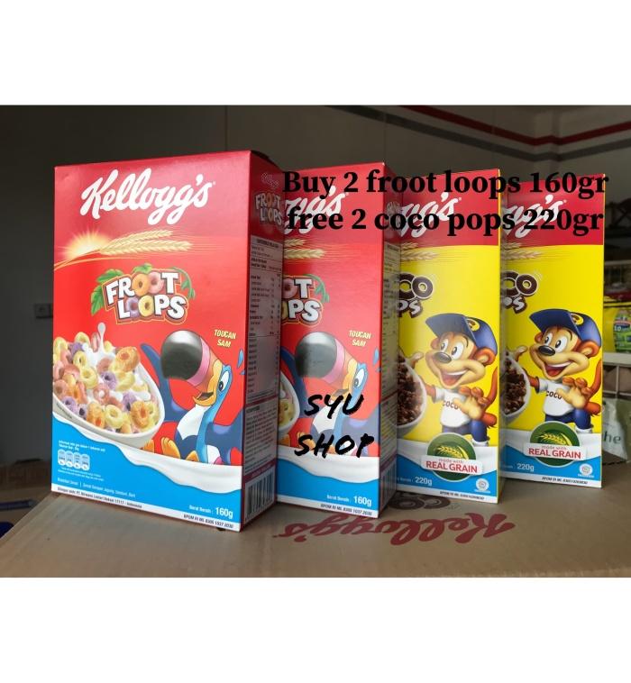 harga Kellogs kelloggs froot loops 160 gr x2 free 2 coco pops 220 gr Tokopedia.com