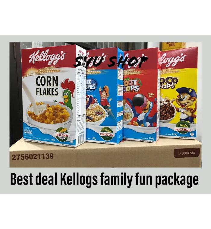 harga Kellogs kelloggs family fun package buy 2 get 4 cereal!! Tokopedia.com