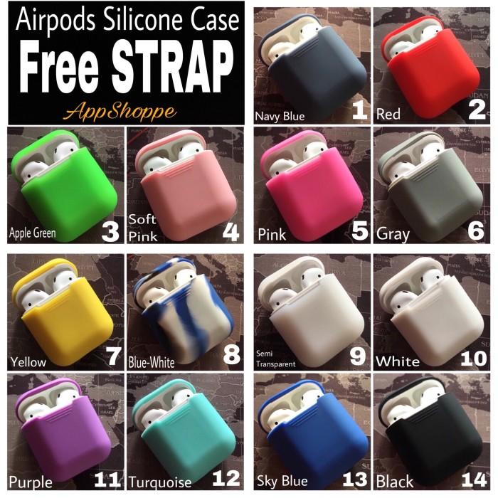 Foto Produk Apple Airpods Silicone Case Protective Cover Pouch dari AppShoppe