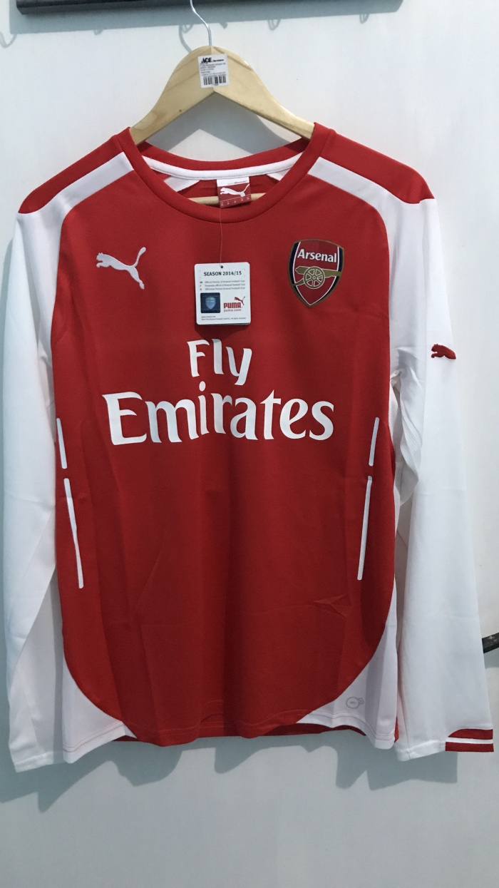 e3bb08536 Jual Jersey Home Arsenal 14-15 Long Sleeve Original - VKN 18 Store ...