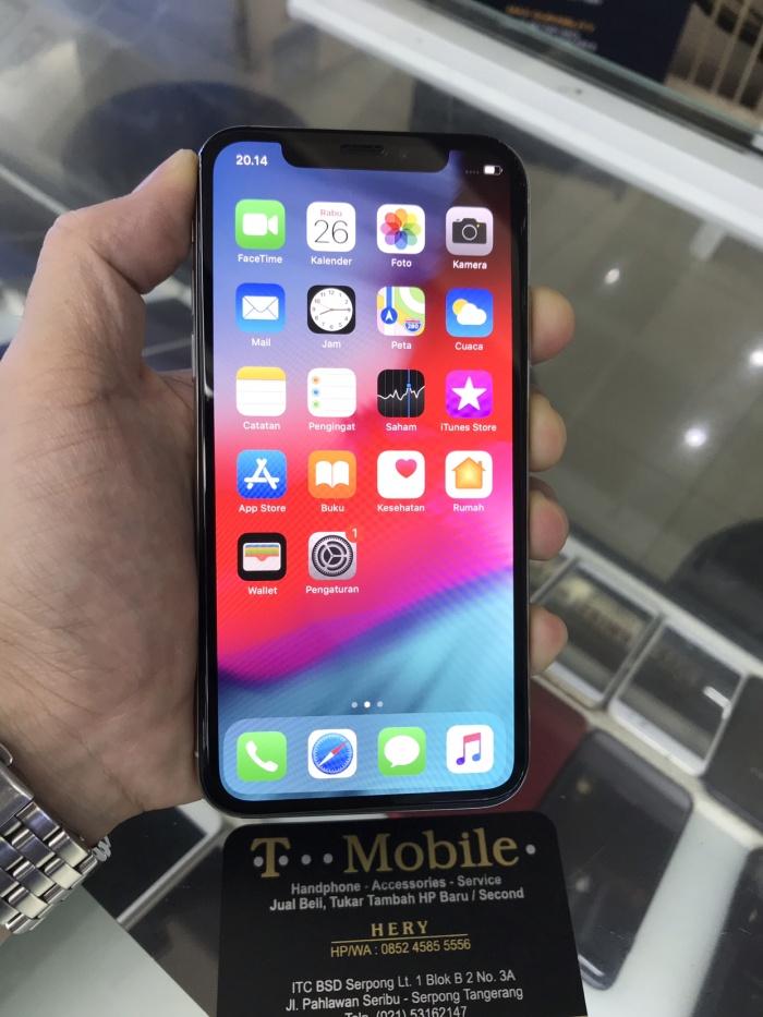 Apple iPhone X 256gb Silver Garansi International 1 Tahun Region LL A -  Perak 118713e2a4