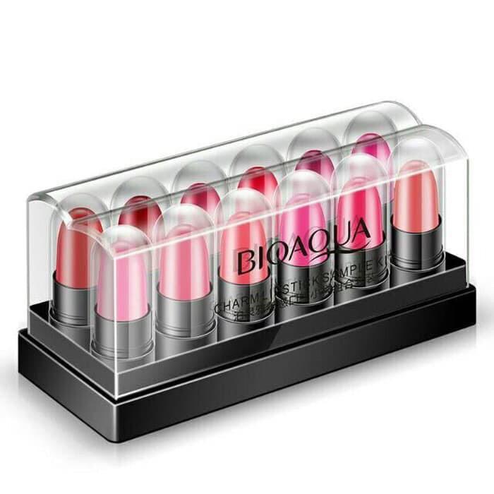 Foto Produk Bioaqua Charm Mini Lipstick fashion set isi 12 colour dari dewi_gadget