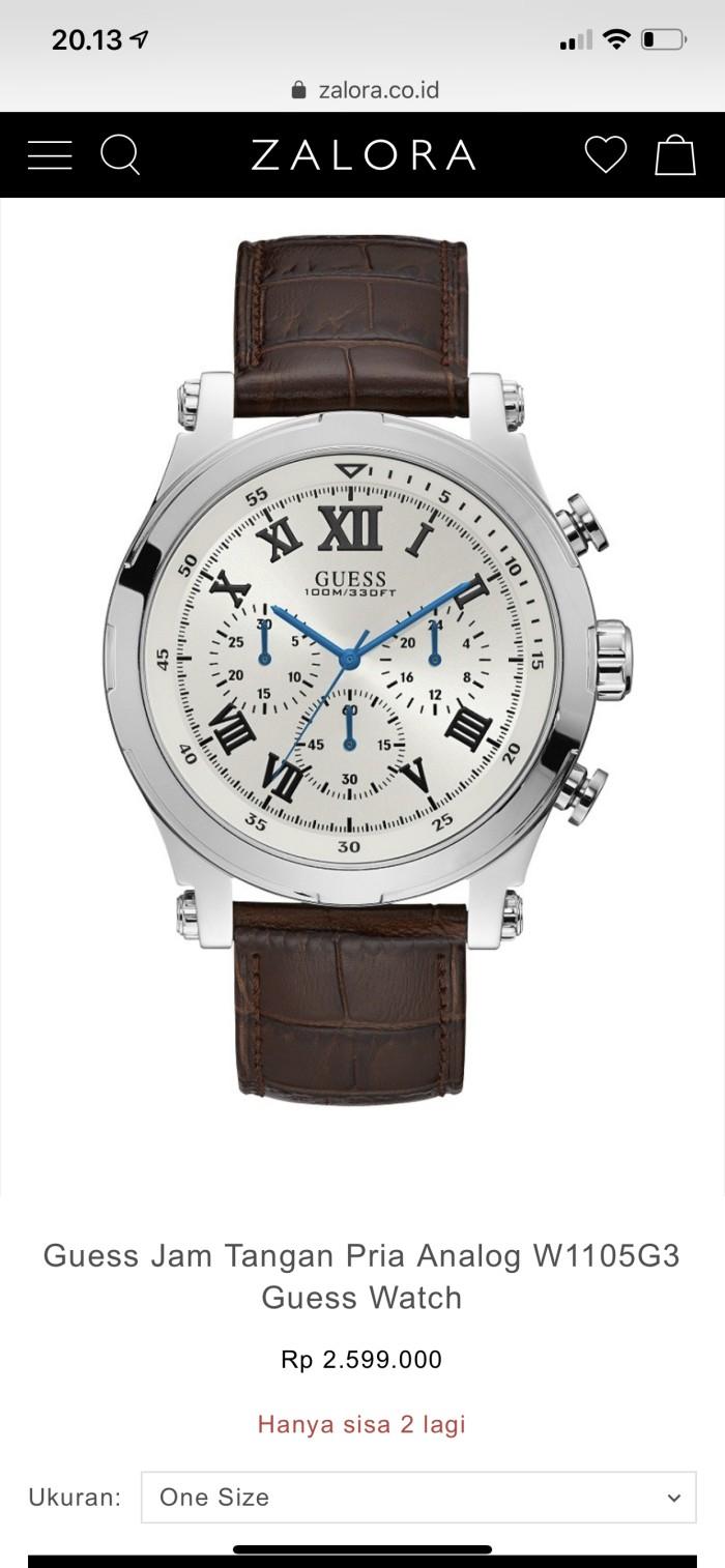 Jual Guess Jam Tangan Pria Analog W1105G3 Guess Watch - NuboxID ... 8fbe0839c3